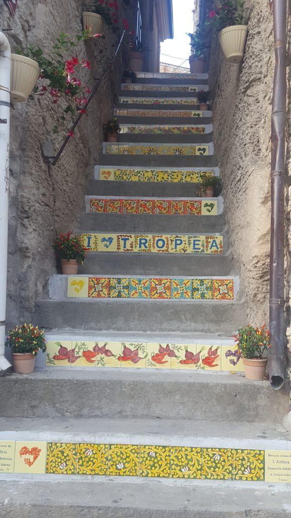 die meistfotografierte Treppe in Tropea, Kalabrien