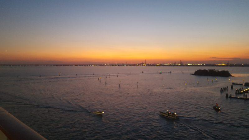 sonnenuntergang, abendstimmung, lagune, venedig, serenissima, italienblog, bellaamoremio